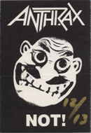 Anthrax Backstage Pass