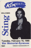 Sting Backstage Pass
