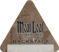 Meat Loaf Backstage Pass