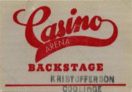 Kris Kristofferson Backstage Pass