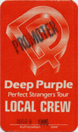 Deep Purple Backstage Pass