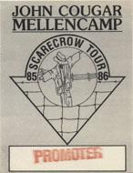 John Cougar Mellencamp Backstage Pass