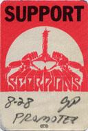Scorpions Backstage Pass