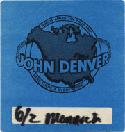 John Denver Backstage Pass