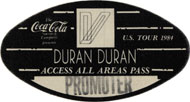 Duran Duran Backstage Pass
