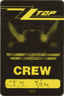 ZZ Top Backstage Pass