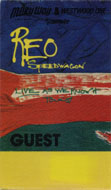 REO Speedwagon Backstage Pass