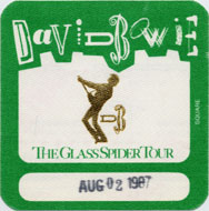 David Bowie Backstage Pass