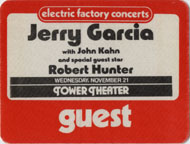 Jerry Garcia Backstage Pass