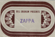 Frank Zappa Backstage Pass