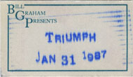 Triumph Backstage Pass