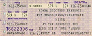 Sting Vintage Ticket