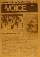 The Village Voice Vol. 16 No. 5 Magazine