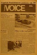 The Village Voice Vol. XVI No. 46 Magazine