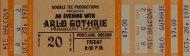 Arlo Guthrie Vintage Ticket