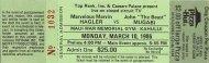 Marvin Hagler Vintage Ticket
