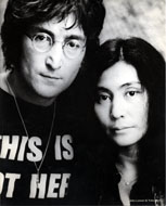 John Lennon and Yoko Ono Vintage Print
