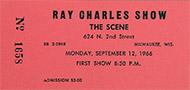 Ray Charles Vintage Ticket