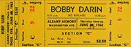 Bobby Darin Vintage Ticket