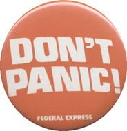 Don't Panic Pin