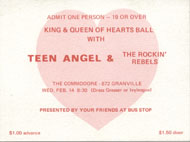 King & Queen of Hearts Ball Vintage Ticket