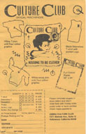 Culture Club Handbill