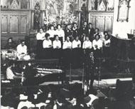 JC White Gospel singers Vintage Print