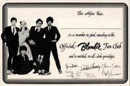Blondie Fan Club Handbill