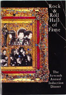 7th Annual Rock & Roll Hall Of Fame Induction Dinner Program