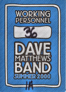 Dave Matthews Band Backstage Pass
