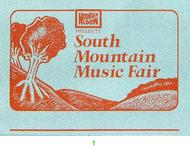South Mountain Music Fair Backstage Pass