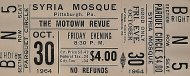 The Motown Revue Vintage Ticket