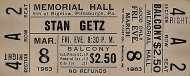 Stan Getz Vintage Ticket