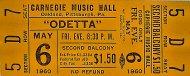 Odetta Vintage Ticket