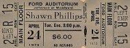 Shawn Phillips Vintage Ticket