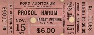 Procol Harum Vintage Ticket