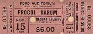 Procol Harum Vintage Ticket