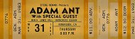 Adam Ant Vintage Ticket