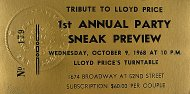 Tribute To Lloyd Price Vintage Ticket