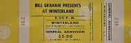 At Winterland Vintage Ticket