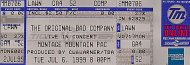 The Original Bad Company Vintage Ticket