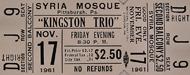 The Kingston Trio Vintage Ticket