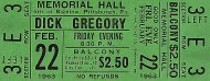 Dick Gregory Vintage Ticket