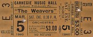 The Weavers Vintage Ticket