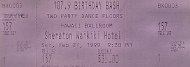 107.9 Birthday Bash Vintage Ticket