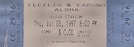 Celilio And Kapono Vintage Ticket