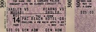 Marvin Hagler Vintage Ticket