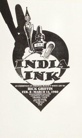 India Ink Handbill