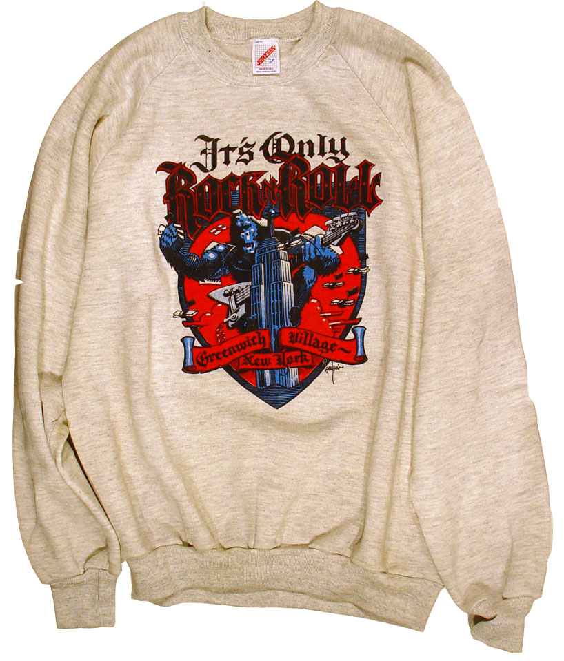 it s only rock n roll s vintage sweatshirts 1986 at