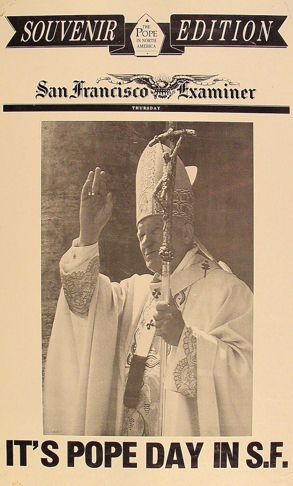 It's Pope Day In S.F. Poster